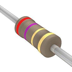 Resistor 1/4W 2R7 Ohms X 10 Unidades
