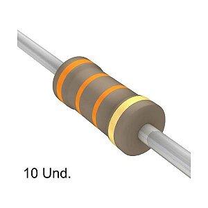 Resistor 1/4W 33K Ohms x 10 Unidades
