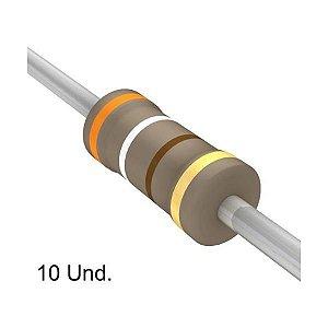 Resistor 1/4W 390R Ohms X 10 Unidades