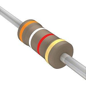 Resistor 1/4W 3K9 Ohms X 10 Unidades