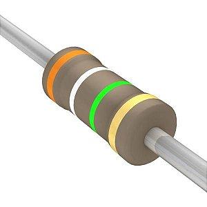 Resistor 1/4W 3M9 Ohms X 10 Unidades