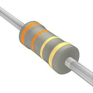 Resistor 1/4W 3R3 Ohms X 10 Unidades