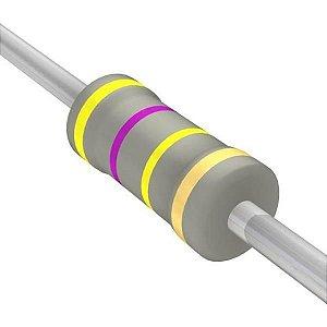 Resistor 1/4W 470K Ohms X 10 Unidades