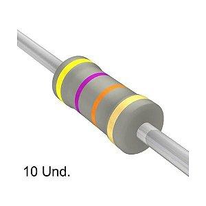 Resistor 1/4W 47K Ohms x 10 Unidades