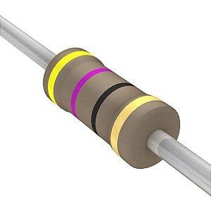 Resistor 1/4W 47R Ohms X 10 Unidades