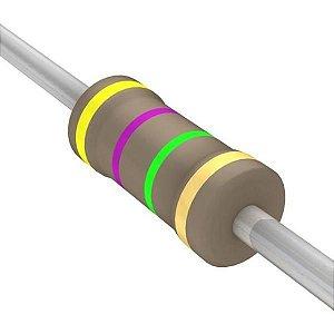 Resistor 1/4W 4M7 Ohms X 10 Unidades