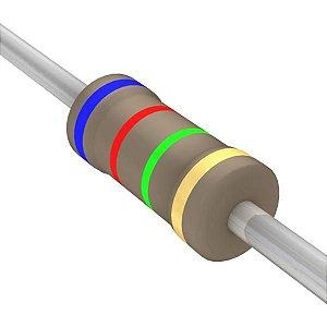 Resistor 1/4W 6M2 Ohms X 10 Unidades