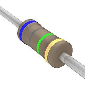 Resistor 1/4W 6M8 Ohms X 10 Unidades