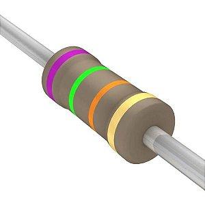 Resistor 1/4W 75K Ohms X 10 Unidades
