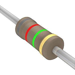 Resistor 1/4W 8M2 Ohms X 10 Unidades