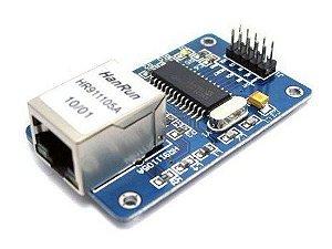 Módulo Ethernet ENC28J60 Conexão cabeada para Arduino com RJ45