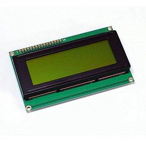 Display Cristal Líquido LCD 20x4 com Luz de fundo verde