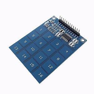 Teclado Capacitivo TTP229 com 16 Teclas