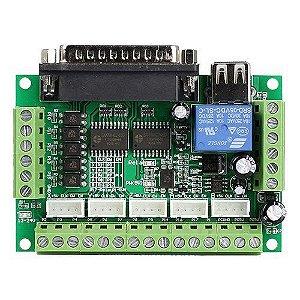 Controladora de CNC Interface Mach 3 Router Até 5 Eixos - 74HC