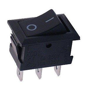 Interruptor Chave Gangorra 3 terminais 6A/250V - 10A/125V