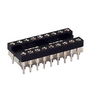 Soquete Torneado para Chip DIP 18 Pinos