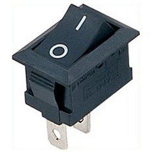 Interruptor Chave Gangorra preto 6A/250V - 10A/125V