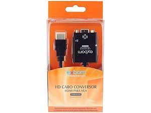 Cabo Conversor HDMI - VGA Fêmea com Áudio EXBOM CC-HV100