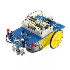 Kit Montagem Robô Seguidor de Linha D21 - DIY