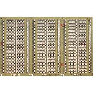 Placa de Fenolite Padrão Protoboard 10X15