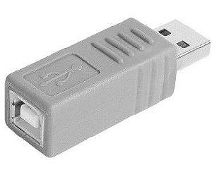 USB-A Macho x USB-B Femea Adaptador