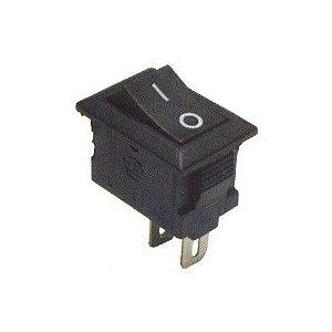Mini Interruptor Chave Gangorra preto 3A/250V - 6A/125V