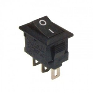 Mini Interruptor Chave Gangorra Preto 3 Terminais 3A/250V - 6A/125V