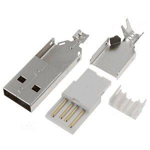 Kit de Conector USB A - Macho e Fêmea