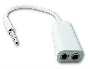 Plug Adaptador de Audio P3 - Fone + Microfone
