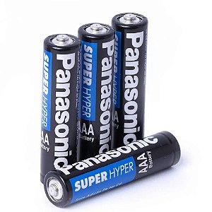 4 Pilhas AAA Panasonic Super Hyper