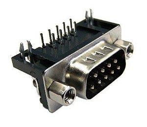 Conector DB9 Serial RS232 Macho 90º