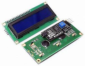 Display LCD 16x2 c/ I2C - Fundo Azul