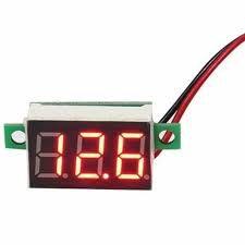 "Mini Voltímetro Digital - Display LED 0,36"" Vermelho"