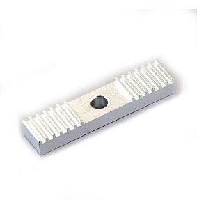 Fixador Emenda Alumínio  2mm 9*40mm , P/ Correia Gt2 - Impressora 3d