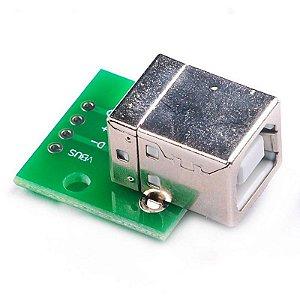 Módulo Adaptador Conector Usb B para DIP