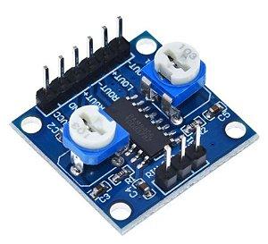 Módulo Amplificador de Áudio Som PAM8406 5W + 5W com Ajuste de Volume