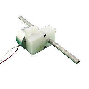 Micro Engrenagem com Motor DC Eixo Duplo 3V a 6V microvelocidade 16 RPM