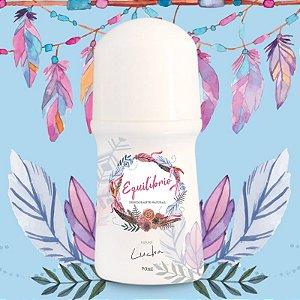 Desodorante Rollon - Equilíbrio com Óleos essenciais de Gerânio, sálvia e Melaleuca - Natural Lucha 70ml