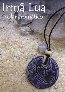 Colar Difusor de Cerâmica Aromaterapia Pessoal - Irmã Lua.