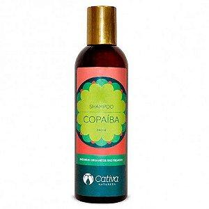 Shampoo Copaiba para Cabelos Óleosos e Anti Caspa Orgânico Natural Vegano - CATIVA NATUREZA