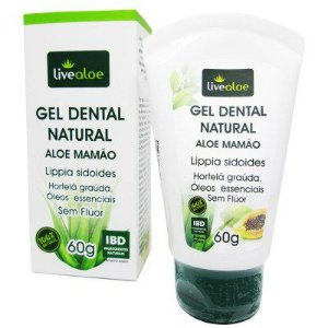 Gel Dental Natural Aloe e Mamão - LiveAloe