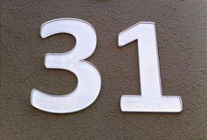 Números Residenciais Em Acrílico Para Portas E Fachadas