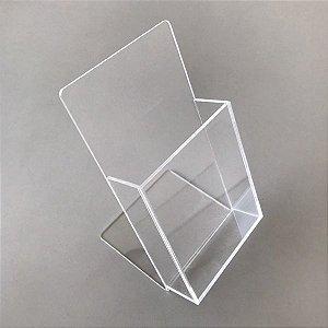 Porta Folder em Acrílico Formato 10cm x 20cm