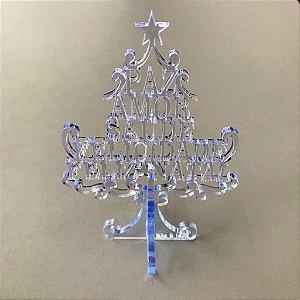 Árvore de Natal Decorativa em Acrílico 60cm