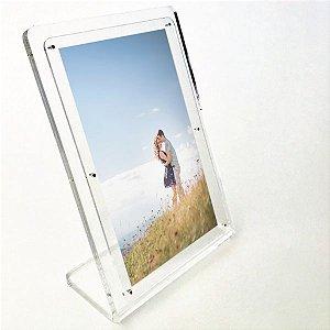 Porta Retrato em Acrílico Formato Foto 10cm x 15cm