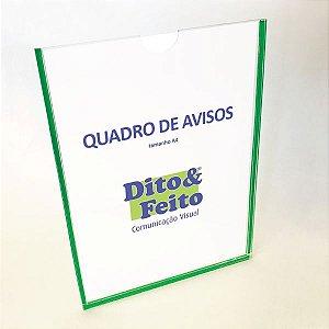 Suporte em Acrílico para folha A4 com fixação adesiva