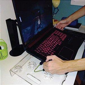 Apoio Suporte Gamer para Notebook em Acrílico Cristal