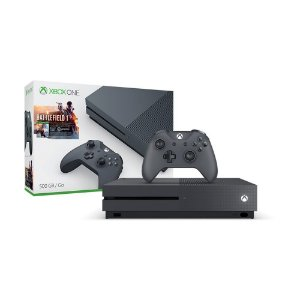 Xbox One S Preto 500GB+Battlefield 1