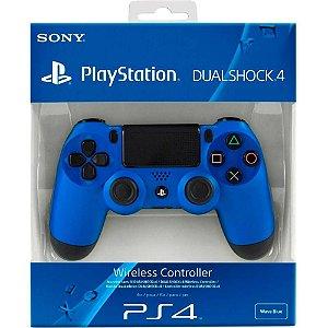 Ps4 - Controle Sem Fio Dualshock 4 azul Modelo Novo - Sony