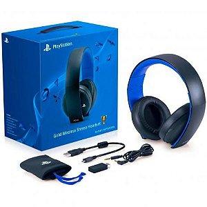 Headset Sony Wireless Stereo Gold PS3 PS4 e PS Vita 7.1 - Sony